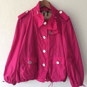 Burberry Brit Magenta Windbreaker Jacket